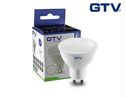 Светодиодная лампа GTV, 6W, 4000K, нейтральное свечение, MR16, цоколь - GU10, 3 года гарантии!!! ПОЛЬША!!!