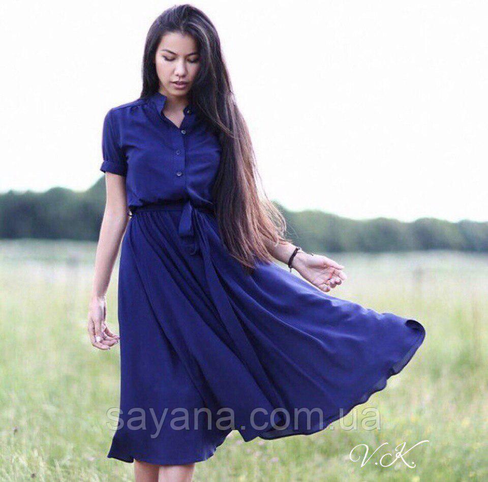 Женское шифоновое платье миди. ВЛ-15-0318