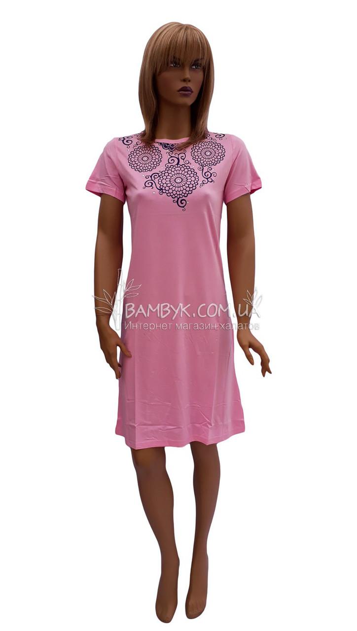 Сукня бамбукове (ніжно рожеве) літній Bellezza № 4050