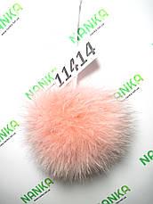 Меховой помпон Песец, Роза, 10 см, 11414, фото 3
