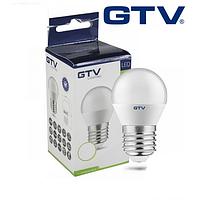 Светодиодная LED лампа GTV, 8W, E27, G45, шарик, 4000К – нейтральное свечение. ПОЛЬША!!! Гарантия - 3 года