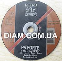 Абразивный шлифовальный круг, зачистной диск PS-FORTE PFERD 230x7x22