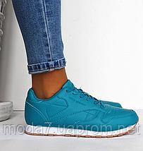 Женские кроссовки Reebok Classic бирюзовые реплика, фото 3