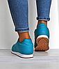 Женские кроссовки Reebok Classic бирюзовые реплика, фото 4