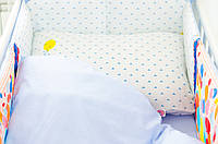 Хлопковое детское постельное белье «Воздушные шарики» (120х60)