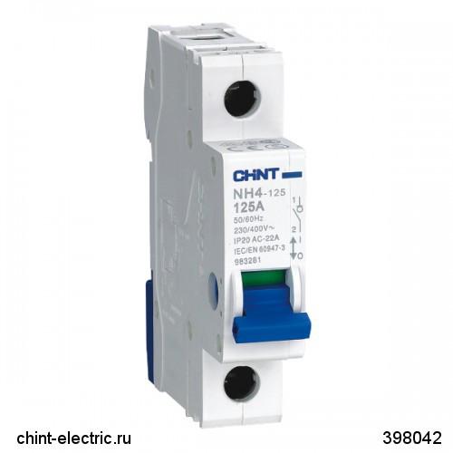 Выключатель нагрузки NH4 3Р 100А (CHINT)
