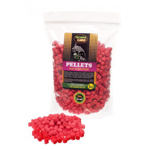 Технокарп FLAVORED CARP Пеллетс (Red Fruit) 6 MM  1 кг