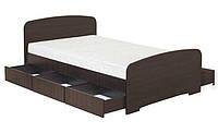 Кровать полуторная К-120С 6Я ДСП с 6 ящиками  серия Модерн  (Абсолют) 1280х2030х800/600мм