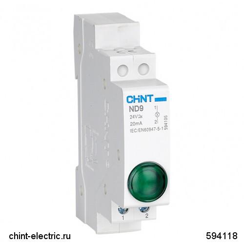 Индикатор ND9-1/y  желтый, AC/DC230В (LED) (CHINT)