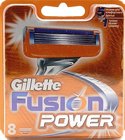 Змінні касети для гоління Gillette Fusion Power 8 шт. Оriginal ОАЭ