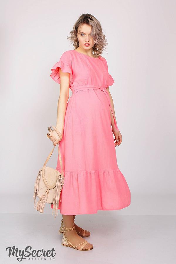 """Платье для беременных и кормящих """"ZANZIBAR"""", ярко-розовое"""