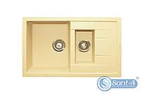 Двойная гранитная кухонная мойка с сушкой Granitika Double Mini DM775020 беж Гранитика, фото 1