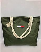 Женская пляжная сумка на канатах