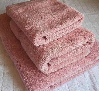 Полотенце махровое 70х140 розовое с бордюром 400 г/м², фото 2