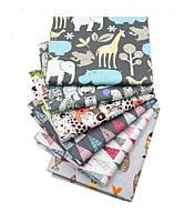 Набор тканей (Ткань) Разноцветные оттенки для Пэчворка 40x50 см 6 шт, фото 1