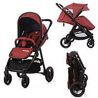 + ДОЖДЕВИК  Прогулочная коляска с резиновыми колесами CARRELLO Sonata CRL-1416 (цвета в наличии)