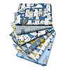 Набор тканей (Ткань) Серо-голубые Животный мир и природа оттенки для Пэчворка 40x50 см 6 шт