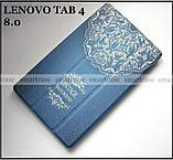 Светлый синий Vintage (джинс) чехол Lenovo Tab 4 8 8504X tb-8504F, чехол книжка молодежный, TFC эко кожа pu, фото 2