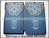 Светлый синий Vintage (джинс) чехол Lenovo Tab 4 8 8504X tb-8504F, чехол книжка молодежный, TFC эко кожа pu, фото 4