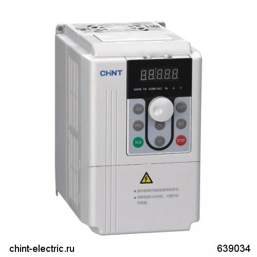 Преобразователь частоты NVF2G-220/PS4, 220кВт, 380В 3Ф, тип для вентиляторов и водяных насосов (CHINT)