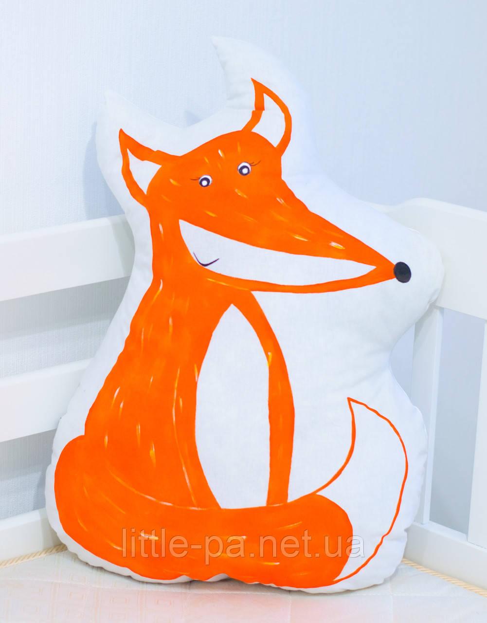 """Подушка хлопковая для детской кроватки """"Рыжая лиса"""""""
