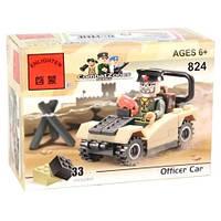 """Детский развивающий конструктор Brick (Брик) 824 """"Военный джип с фигуркой"""",фигурка, конструктор лего-типа"""