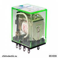 Промежуточное реле с кнопкой тестирования NJDC-17(D)/2Z 2 конт. с инд. LED 10А DC24В (CHINT)