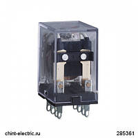 Промежуточное реле JZX-22F(D) 3 конт. с инд. LED 5А 220В AC (CHINT)