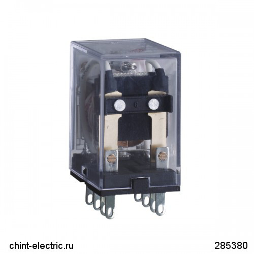 Промежуточное реле JZX-22F(D) 4 конт. с инд. LED 3А 220В AC (CHINT)