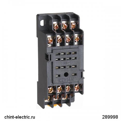 Розетка CZT08B-01 для NJDC-17(D)/2Z 2 конт. 10А (CHINT)