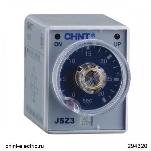 Реле времени JSZ3A-A базового типа многодиапазонная задержка включения 0,05-0,5/5/30s/3min AC220V (CHINT)