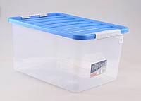 Ящик пластиковый для хранения с крышкой 38л, 52*36,5*26см,Clipbox,HEIDRUN