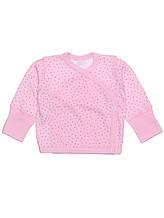 Детская распашонка крапинка розовая