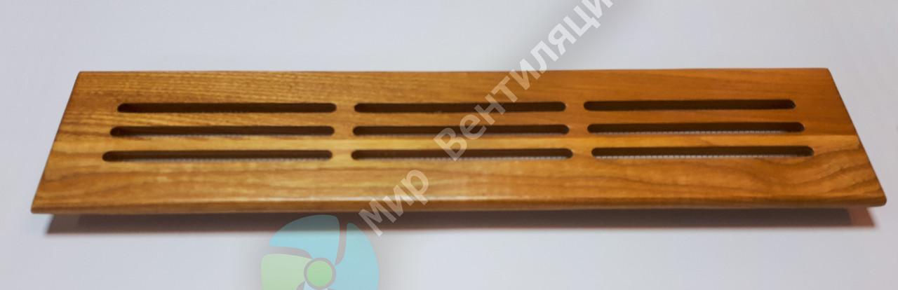 Вентиляционная решетка деревянная 360х80, прямоугольная