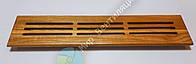 Вентиляционная решетка деревянная 360х80, прямоугольная, фото 1
