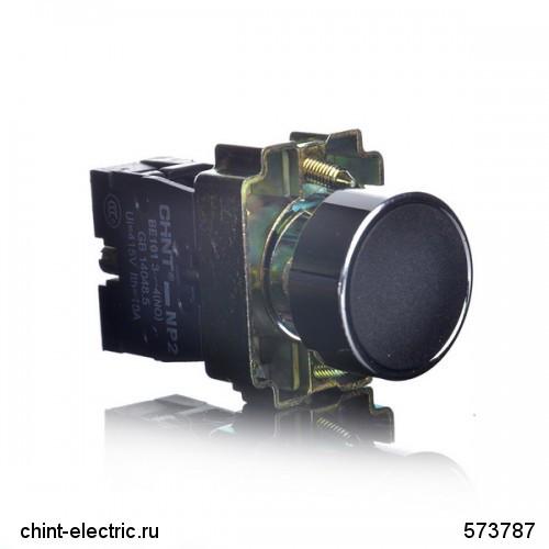 Кнопка управления NP2-BA21 без подсветки черная 1НО IP40 (CHINT)