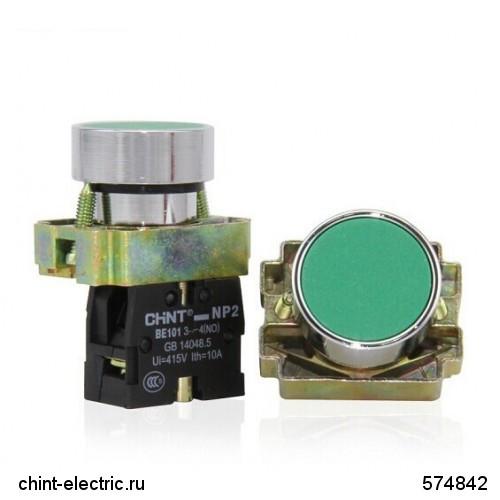 Кнопка управления NP2-BA31 без подсветки зеленая 1НО IP40 (CHINT)