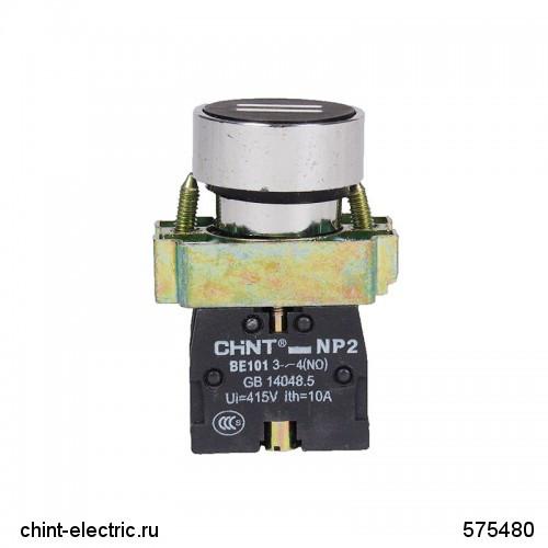 Кнопка управления NP2-BA4322 с маркировкой, 1НЗ IP40 (CHINT)