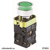 Кнопка управления NP2-BW3361 1НО зеленая AC/DC230В(LED) IP40 (CHINT)