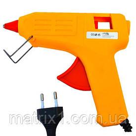 Клеевой пистолет ME-02, под клей 11мм, 80W, желтый