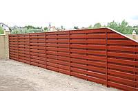 Двухслойный деревянный забор LNK
