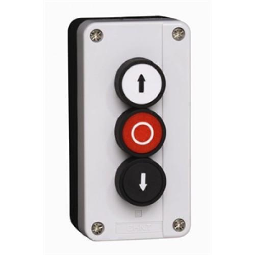 Кнопочный пост NP2-B334, 1НО+1НЗ +1НО