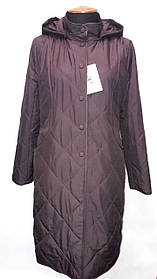 """Button"", демисезонное пальто 96-553 бордо"