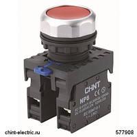 Кнопка управления NP8-01BND 1НЗ красная AC/DC24В(LED) IP65 (CHINT)