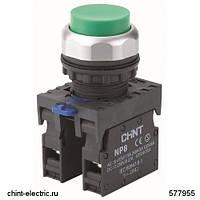 Кнопка управления NP8-10GN/3 без подсветки зелёная 1НО IP65 (CHINT)