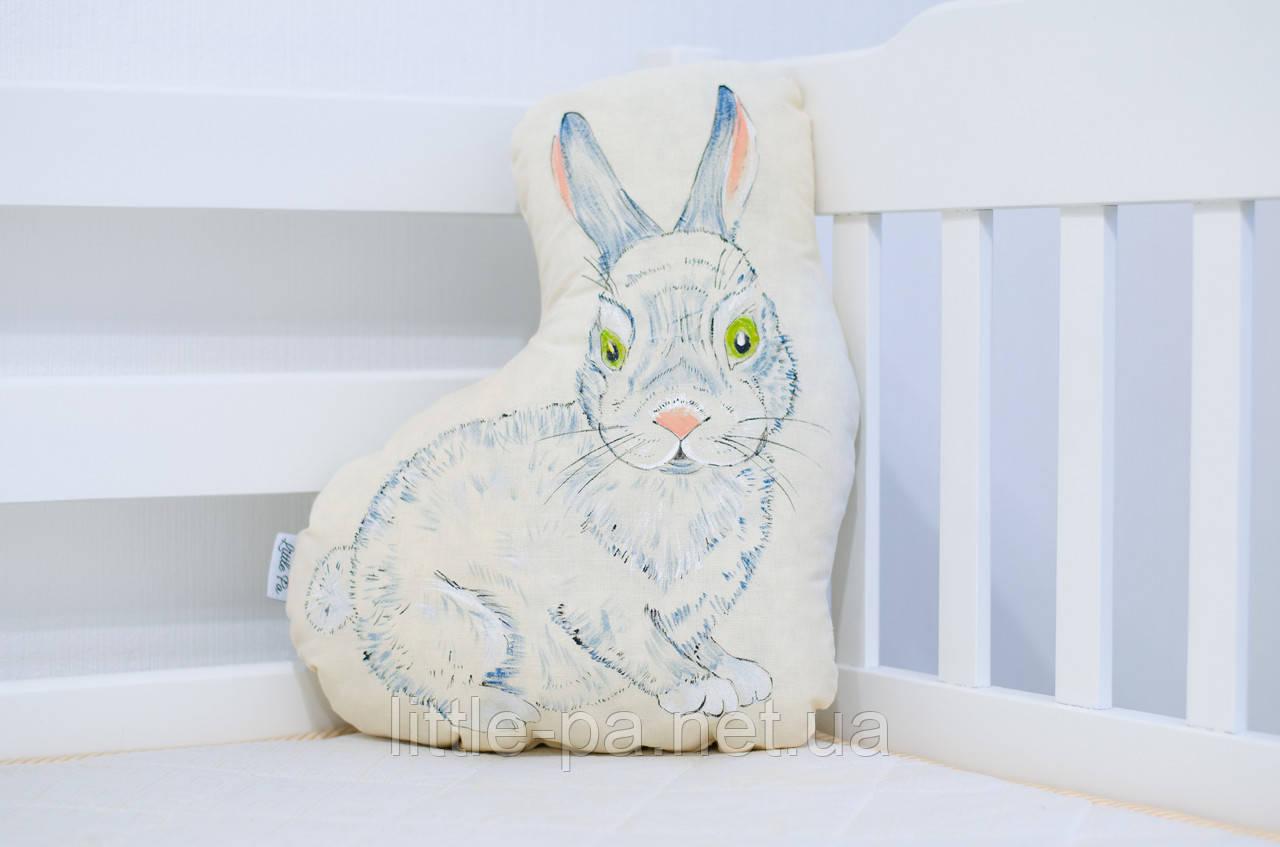 """Подушка для детской кроватки из хлопка """"Кролик"""""""