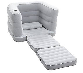 Надувное кресло-трансформер Bestway  + подушка 102х200х64 см (75065)