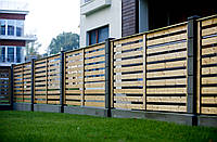 Провітрюваний секційний паркан з дерева LNK