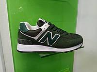 Женские кроссовки New Balance 574 зеленые, фото 1