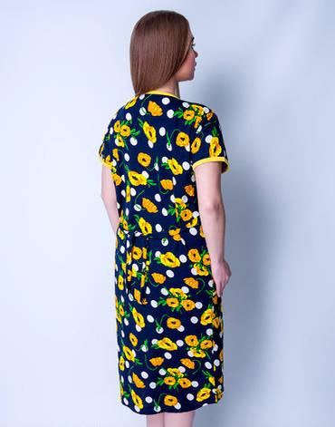Летний халат женский увеличенного размера Желтые цветочкиSen Sen, фото 2